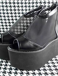 handgemachten schwarzen 10cm hohen Absatz klassische Lolita Schuhe