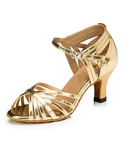 Chaussures de danse (Argent) - Personnalisable - Talon aiguille - Similicuir - Danse latine
