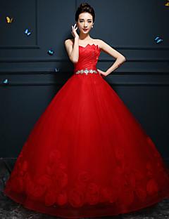 웨딩 드레스 - 루비 / 화이트 볼 가운 바닥 길이 스윗하트 튤