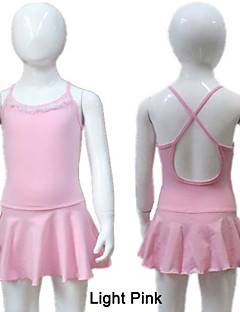 Cotton/Lycra Camisole Leotard with Skirts More Colors for Girls and Ladies