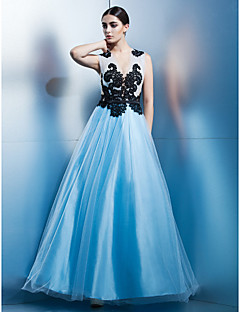 TS Couture® Formal Evening / Black Tie Gala Dress A-line Jewel Ankle-length Tulle with Appliques