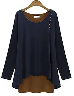 Women's   Causal Sexy Cute Plus Sizes Long Sleeve  Shirt (Cotton)