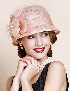 Women Party Summer Linen Bowler/Cloche Hat