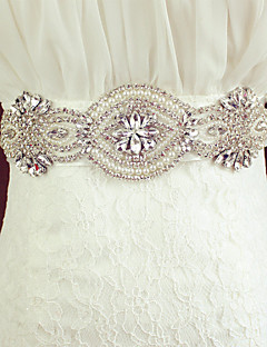 Satin Wedding Sash - Crystal/Rhinestone Women's Sashes