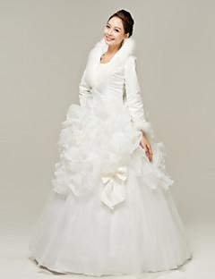 Abito da sposa - Bianco Palloncino Rotondo Raso terra Organza