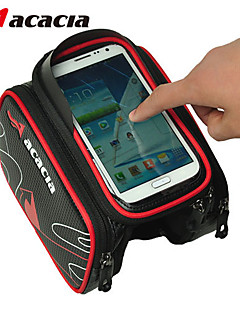 Bolsa Celular / Bolsa para Quadro de Bicicleta (Vermelho , Pele PU / EVA)Á Prova-de-Chuva / Camurça de Vaca á Prova-de-Choque /