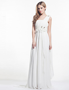 Dress - As Picture A-line One Shoulder Court Train Chiffon