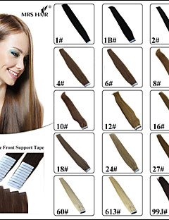 "Tape Weft Human Hair Extensions 18"" 20"" 22"" 24"" 20pcs pack Seamless Pu Skin Weft Brazilian Remy New Hair Products"
