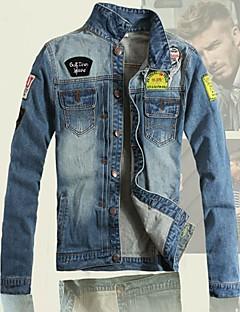 Men's Print Long Sleeve Jacket , Cotton/Denim Casual/Plus Sizes