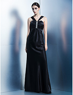 Formal Evening Dress - Sheath/Column Halter Floor-length Charmeuse