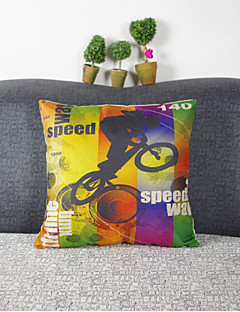 éblouir vélo de couleur taie d'oreiller décoratif (17 * 17 pouces)