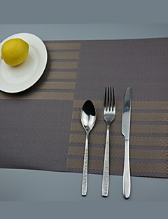 """2stk europeisk stil høy kvalitet pvc spise dalbaner bordbrikker (12 """"x18"""")"""