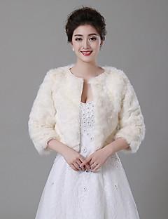 Wedding  Wraps Boleros Faux Fur Beige