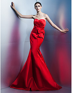 TS Couture Formal Evening Dress - Ruby Trumpet/Mermaid Sweetheart Floor-length Satin