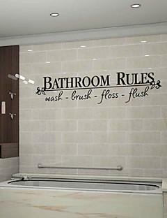 wall stickers wall decals stil badeværelse regler engelske ord&citerer pvc wall stickers