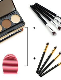 3 Colors Facial Concealer Palette+Eye Shadow Eyeliner Brushes+Beauty Makeup Foundation Egg Puff(Assorted Sets)