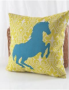 running horse coton motif / lin taie d'oreiller décoratif