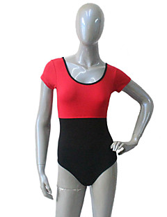 Cotton/Lycra Short Sleeve Two-tone Tank Dance Leotard for Ladies and Girls