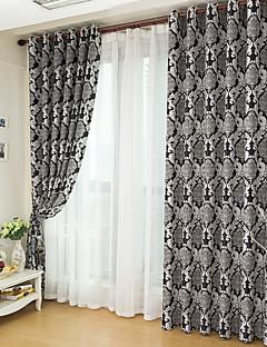İki Panel Pencere Tedavi Modern Yatakodası Polyester Malzeme Blackout Perdeler Perdeler Ev dekorasyonu For pencere
