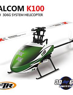 WLTOYS XK K100 Falcom 6CH Flybarless 3D6G System RC Helicopter RTF