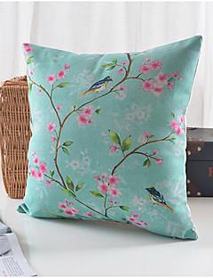 pays coton motif de prune / lin taie d'oreiller décoratif