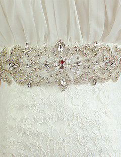 Satin Wedding Sash - Pearls/Crystal/Rhinestone Women's Sashes