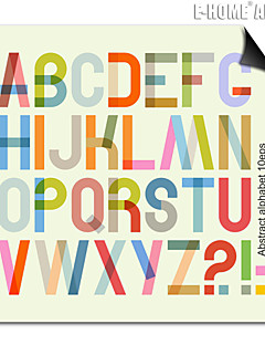 e-Home® magnetische afdruk vervangbare kunst kleur van engels brieven decoratieve schilderkunst meerdere stijl optioneel