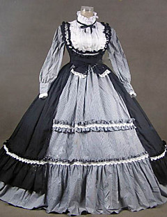 One-Piece/Dress Gothic Lolita Steampunk® Victorian Cosplay Lolita Dress Vintage Long Sleeve Long Length Dress For Cotton Lace Terylene