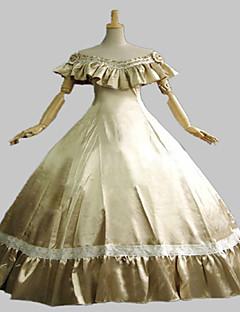 Steampunk®Long Civil War Dress Gothic Party Dress Halloween Costume