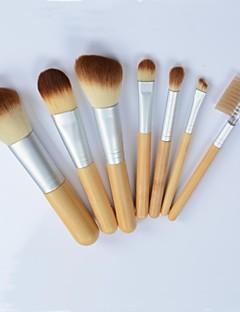 7pcs eco-friendly di spazzole di trucco di bambù set pennelli trucco professionale&Strumenti