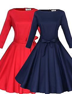 Sexy kulatý tvar - Třičtvrteční rukávy - ŽENY - Dresses ( Bavlna / Polyester )