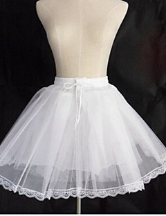 Slips Ball Gown Slip Short-Length 3 Tulle Netting White