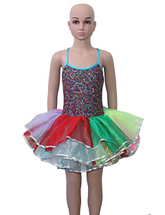Cross Back Straps Camisole Sequin Leotard Tutu for Ladies and Girls