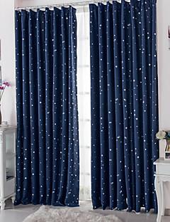 İki Panel Pencere Tedavi Modern , Benekli Kumaşlar Oturma Odası Polyester Malzeme Blackout Perdeler Perdeler Ev dekorasyonu For pencere