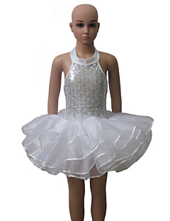 Sequin Lycra and Tulle Halter Sequin Leotard Tutu for Ladies and Girls