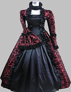 steampunk®victorian gotico periodo cosplay raso abito da ballo vestito rievocazione