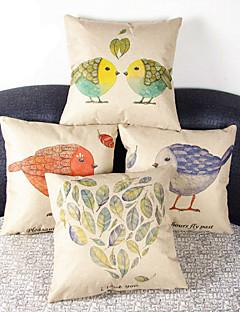 ensemble de 4 peu de couverture taie d'oreiller de poulet canapé décoration de la maison de coussin (17 * de 17 pouces)