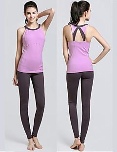 SMOEDOD ® Yoga Set di vestiti/Completi Pantaloni da yoga + Yoga Tops Traspirante / wicking / Materiali leggeri ElasticoAbbigliamento