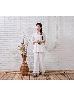 Ioga Conjuntos de Roupas/Ternos Calças + Tops Anti-Estático Inelástico Wear Sports Mulheres - Outros Ioga / Pilates