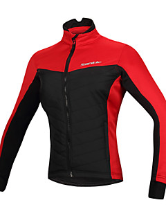 SANTIC® Cycling Jacket Women's Long Sleeve Bike Windproof / Reflective Strips Tops Cotton / 100% Polyester Fall/Autumn / WinterCamping /