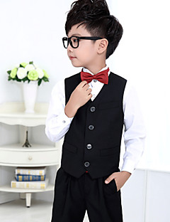 Polester/Cotton Blend Ring Bearer Suit - 4 Pieces Includes  Shirt / Vest / Pants / Bow Tie