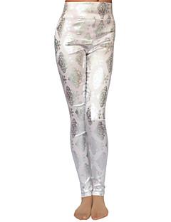 Women's Print Pink / White / Gray Skinny Pants , Bodycon / Casual