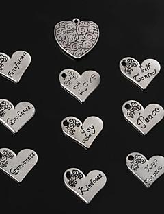 Čari / Privjesci Metal Heart Shape kao slika 2-5pcs