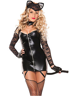 Women's 2pcs Sexy Lace Cat Costume