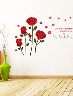 Botanisk / Ord & Citater / Romantik / Blomster Wall Stickers Fly vægklistermærker , PVC 45cm*60cm