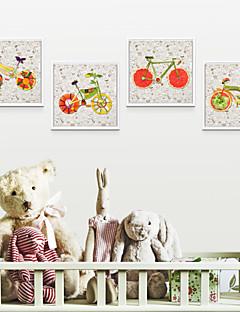 Abstracto / Paisaje / Floral/Botánico / Bodegón / Caricaturas / Arquitectura Conjunto enmarcado 40cm*40cm*4pcs Arte de la pared ,