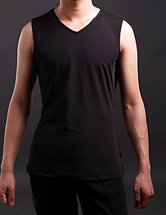 Latin Dance Tops Men's Training Spandex Pleated 1 Piece Sleeveless Top M:65 cm / L:67 cm / XL:69 cm