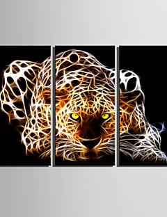 Animal Impressão em tela 3 Painéis Pronto para pendurar , Vertical
