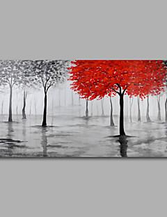 Pictat manual Abstract Floral/Botanic Peisaje Abstracte  Orizontală Panoramic,Modern Un Panou Hang-pictate pictură în ulei For Pagina de