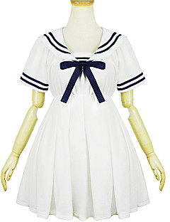 White Polyester Navy Costume